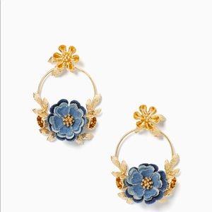 Kate Spade Flower Hoop Earrings